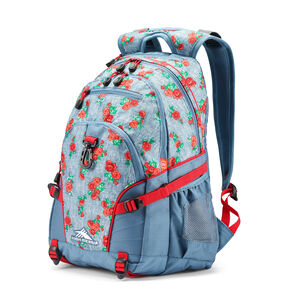High Sierra Loop Backpack in the color Denim Rose/Graphite Blue/Crimson.