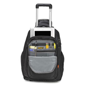 Rev Wheeled Backpack in the color Black.