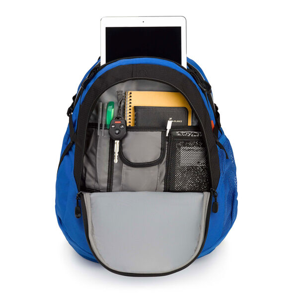 High Sierra Fatboy Backpack in the color Vivid Blue/ Black.