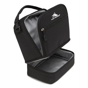 Stacked Compartment Lunch Bag in the color Black.