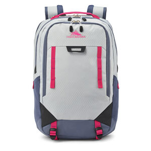 High Sierra Litmus Backpack in the color Silver/Magenta.
