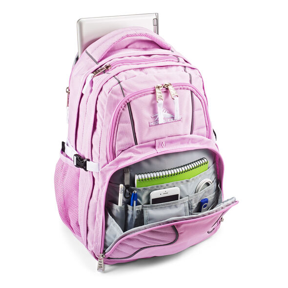 High Sierra Swerve Backpack in the color Iced Lilac/White.