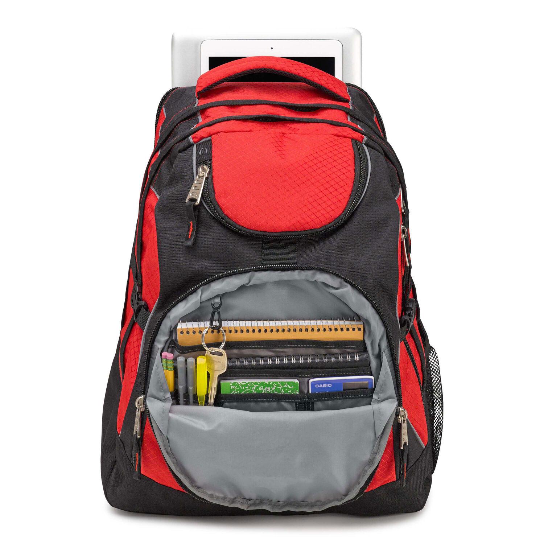 High Sierra Access Backpack in the color Crimson Black. f3b524dfa6