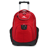 High Sierra Powerglide Wheeled Backpack in the color Chili Pepper/Black.