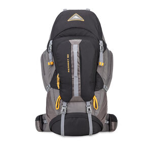 Pathway 90L Pack in the color Black/Slate/Gold.