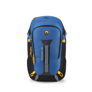 Life Is Good by High Sierra Pathway 40L Pack in the color Vintage Blue/Black.