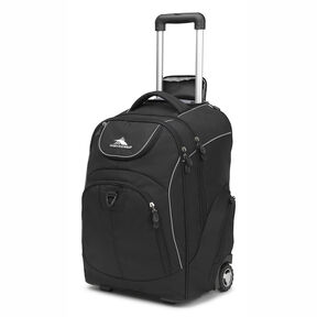 High Sierra Powerglide Wheeled Backpack in the color Black/Black.