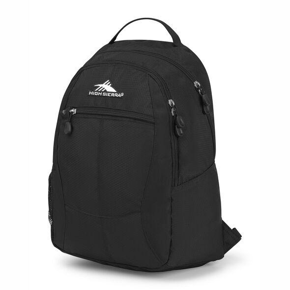 High Sierra Curve Backpack in the color Black/Black.