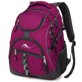 High Sierra Access Backpack in the color Berry Blast/Mercury.