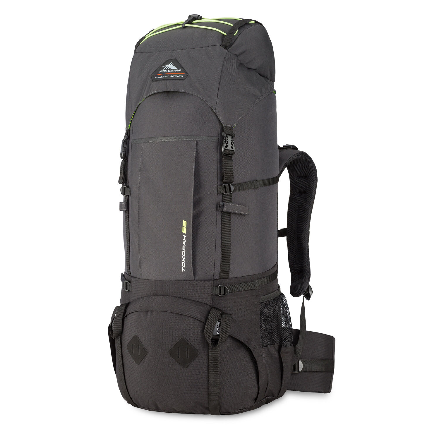a605f952b High Sierra Tokopah 55L Pack in the color Raven/Black/Zest.