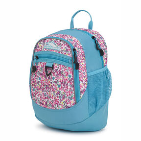 High Sierra Mini Fatboy Backpack in the color Prairie Floral/Tropic Teal.