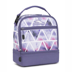 High Sierra Stacked Compartment Lunch Bag in the color Dreamscape/Purple Smoke.