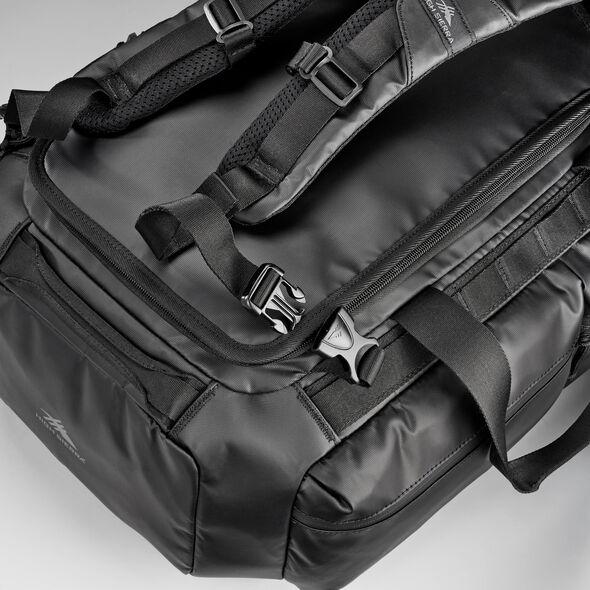 High Sierra OTC Convertible Duffel Backpack in the color Black/Black/Black.