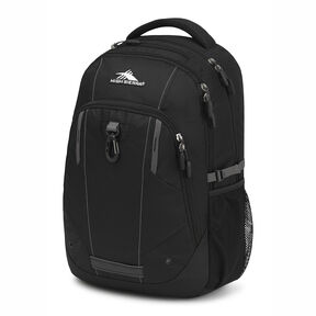 High Sierra Zestar Backpack in the color Black/Slate Grey.