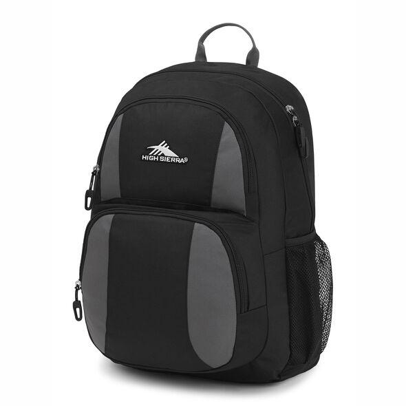 High Sierra Pinova Backpack in the color Black/Slate Grey.