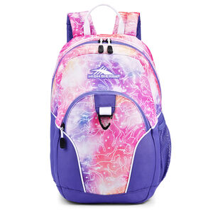 Mini Loop Backpack in the color Unicorn Clouds/Lavender/White.