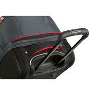"High Sierra Cermak 32"" Wheeled Drop-Bottom Duffel in the color Mercury/Black/Crimson."