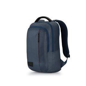 High Sierra Business Slim Backpack in the color Rustic Blue Heather/Chili Pepper.