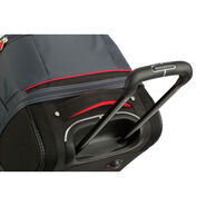"High Sierra Cermak 26"" Wheeled Drop-Bottom Duffel in the color Mercury/Black/Crimson."