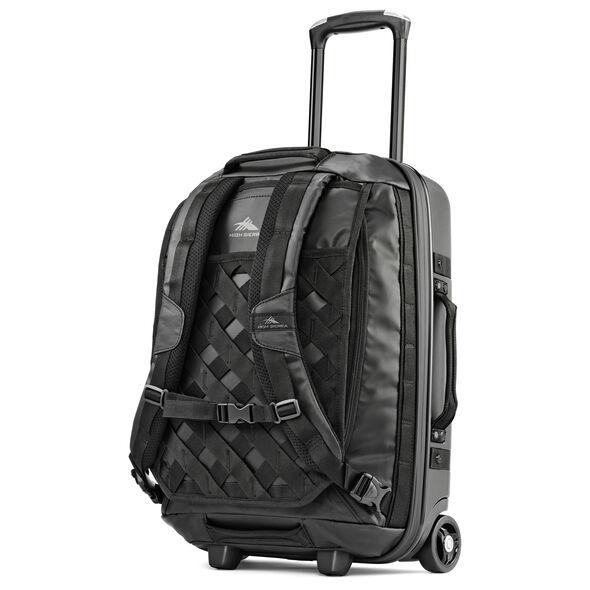 "High Sierra OTC 22"" Hybrid Wheeled Backpack in the color Black/Black/Black."