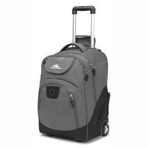 High Sierra Powerglide Wheeled Backpack in the color Slate/Black.