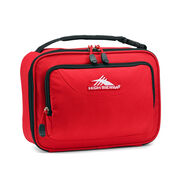 High Sierra Single Compartment Lunch Bag in the color Crimson/Black.