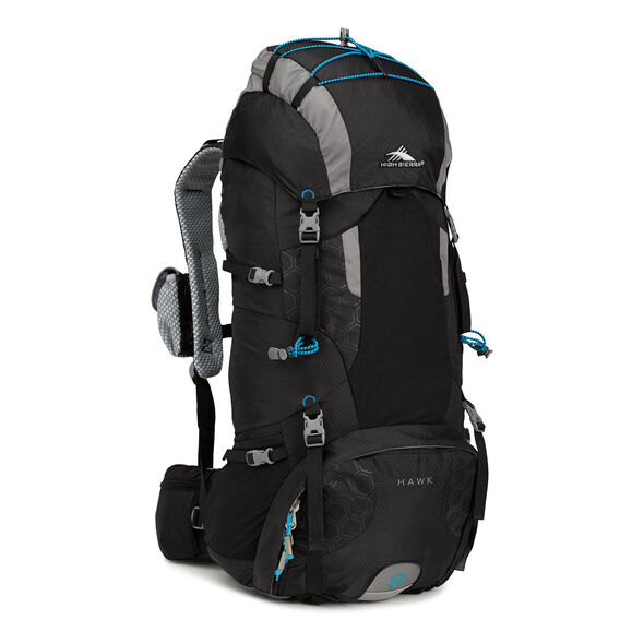 High Sierra Tech 2 Series Hawk 50 Frame Pack in the color Black/Charcoal/Pool.