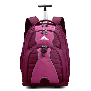 Freewheel Wheeled Backpack in the color Razzmatazz/Plum.