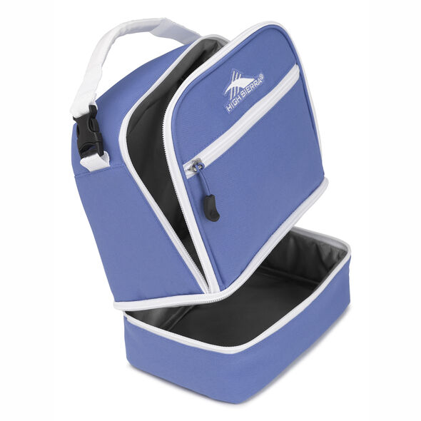 High Sierra Stacked Compartment Lunch Bag in the color Lapis/White.