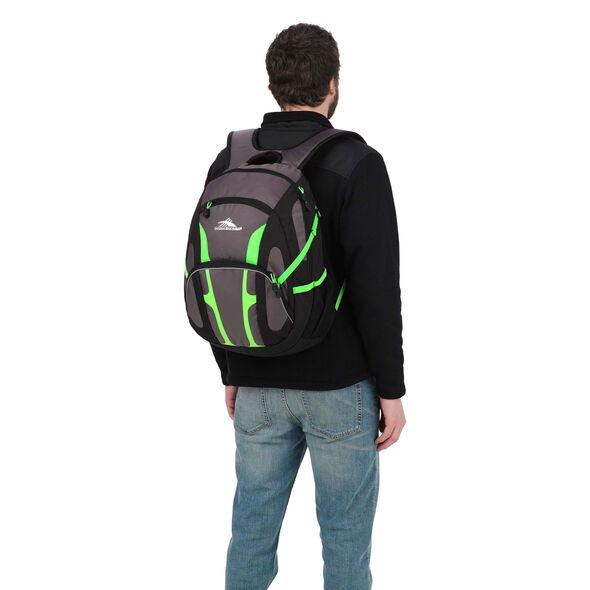 High Sierra Composite Backpack in the color Slate/Black/Lime.