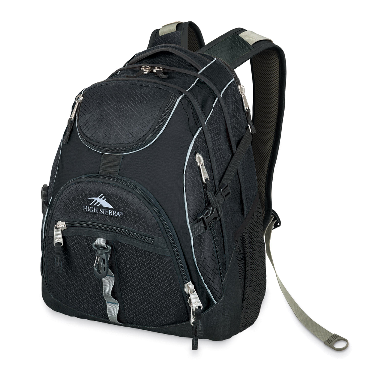 High Sierra Black Access BookBag Backpack 20x15x9 NWT