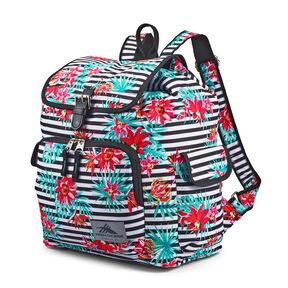High Sierra Elly Backpack in the color Tropical Stripe/Black.