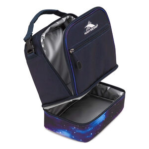 Stacked Compartment Lunch Bag in the color Midnight Blue/Cosmos.