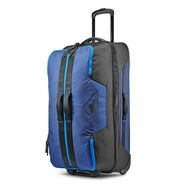 """High Sierra Dells Canyon 28"""" Wheeled Duffel in the color True Navy/Black/Sports Blue."""