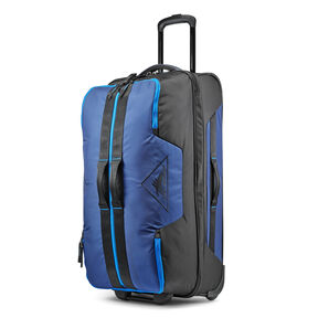 "High Sierra Dells Canyon 28"" Wheeled Duffel in the color True Navy/Black/Sports Blue."