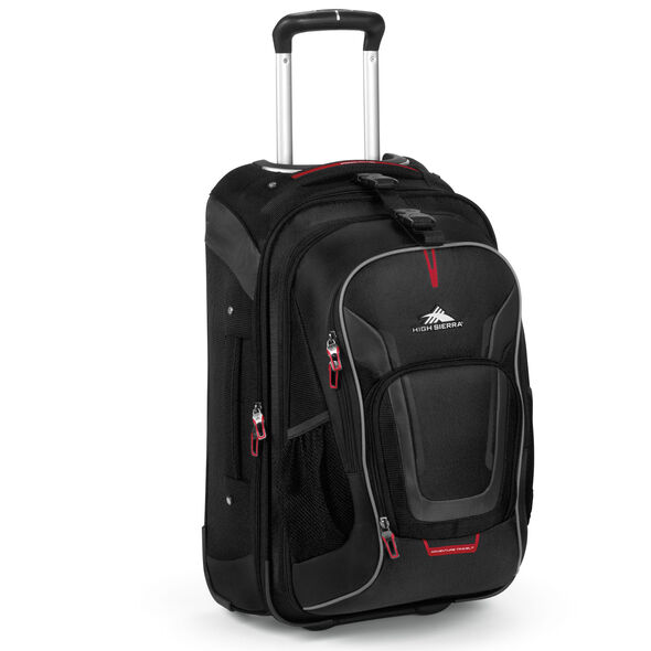 High Sierra AT7 Carry-On Wheeled Backpack in the color Black.