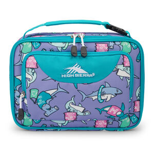 Single Compartment Lunch Bag in the color Purple Sharks.