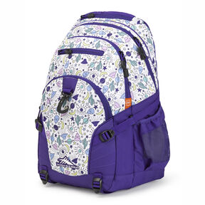 High Sierra Loop Backpack in the color Roswell UFO/ Deep Purple.