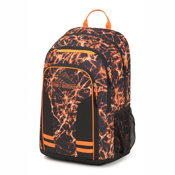 High Sierra Blaise Backpack in the color Fireball/Black/Electric Orange.