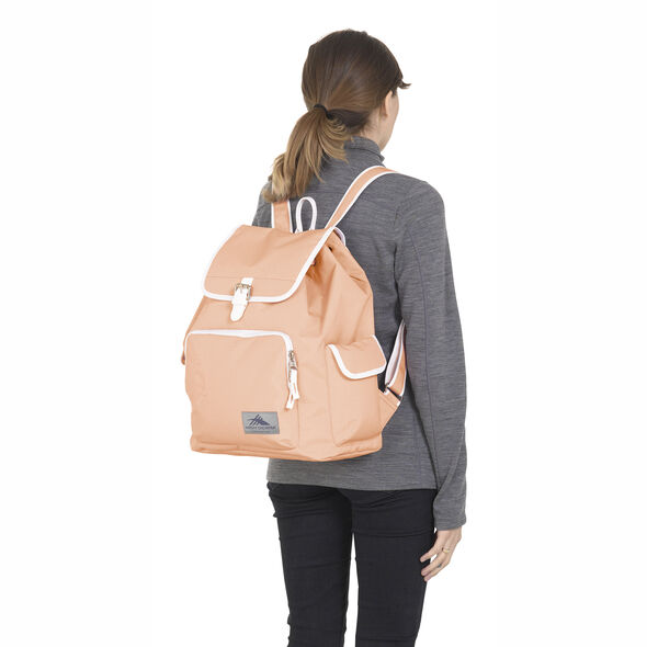 High Sierra Elly Backpack in the color Sand Pink/White.