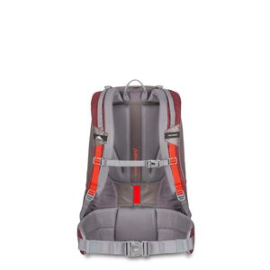 Pathway 40L Pack in the color Cranberry/Slate/Redrock.
