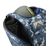 High Sierra Trapezoid Boot Bag in the color Razor Camo/Rustic Blue/Redline.
