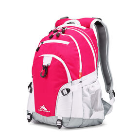 High Sierra Loop Backpack in the color Pink Punch/White/Ash.