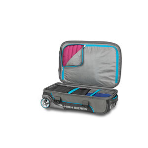 Selway Carry-On Duffel Upright in the color Mercury/Black/Pool.