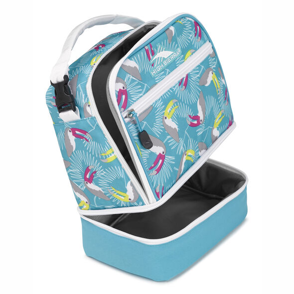 High Sierra Stacked Compartment in the color Toucan/Tropic Teal/White.