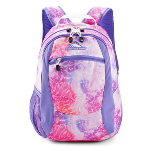 Curve Backpack in the color Unicorn Clouds/Lavender/White.