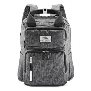 Mindie Backpack in the color Fabric Tex/Black/Silver.
