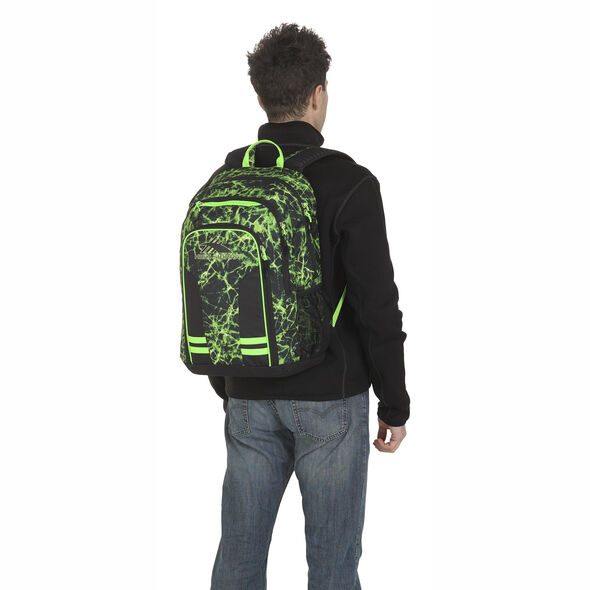 High Sierra Blaise Backpack in the color Lime Fire/Black/Lime.