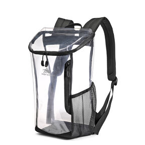 High Sierra Clear Toploader Backpack in the color Black.