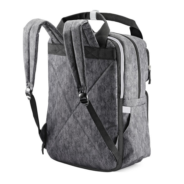High Sierra Mindie Backpack in the color Fabric Tex/Black/Silver.